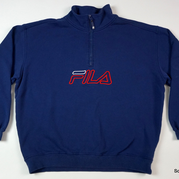 3e5954b05db1d Fila Shirts | Vtg Sport 14 Zip Pullover Sweatshirt Sz Xl | Poshmark